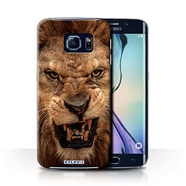 STUFF4 Phone Case/Cover for Samsung Galaxy S6 Edge/Lion Design/Wildlife Animals Collection Mobile phones