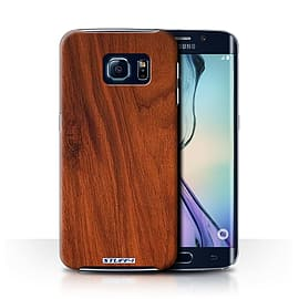 STUFF4 Phone Case/Cover for Samsung Galaxy S6 Edge/Mahogany Design/Wood Grain Effect/Pattern Mobile phones