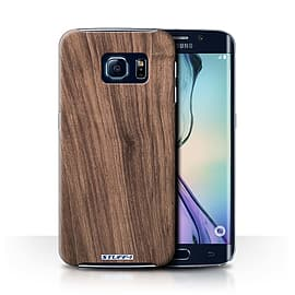 STUFF4 Phone Case/Cover for Samsung Galaxy S6 Edge/Walnut Design/Wood Grain Effect/Pattern Mobile phones