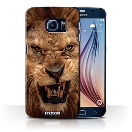 STUFF4 Phone Case/Cover for Samsung Galaxy S6/G920/Lion Design/Wildlife Animals Collection Mobile phones