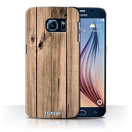 STUFF4 Phone Case/Cover for Samsung Galaxy S6/G920/Plank Design/Wood Grain Effect/Pattern Collection Mobile phones
