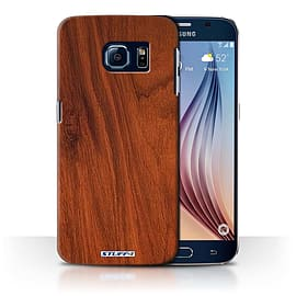 STUFF4 Phone Case/Cover for Samsung Galaxy S6/G920/Mahogany Design/Wood Grain Effect/Pattern Mobile phones
