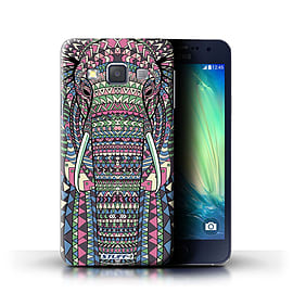 STUFF4 Phone Case/Cover for Samsung Galaxy A3/A300/Elephant-Colour Design/Aztec Animal Design Mobile phones