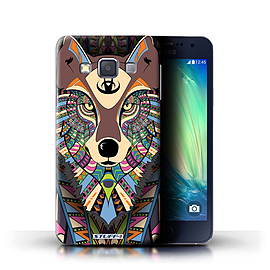 STUFF4 Phone Case/Cover for Samsung Galaxy A3/A300/Wolf-Colour Design/Aztec Animal Design Collection Mobile phones