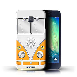 STUFF4 Phone Case/Cover for Samsung Galaxy A3/A300/Orange Design/VW Camper Van Collection Mobile phones