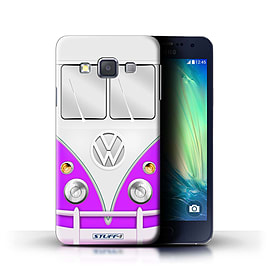 STUFF4 Phone Case/Cover for Samsung Galaxy A3/A300/Purple Design/VW Camper Van Collection Mobile phones