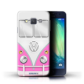 STUFF4 Phone Case/Cover for Samsung Galaxy A3/A300/Pink Design/VW Camper Van Collection Mobile phones