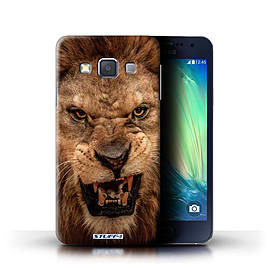 STUFF4 Phone Case/Cover for Samsung Galaxy A3/A300/Lion Design/Wildlife Animals Collection Mobile phones