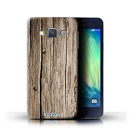 STUFF4 Phone Case/Cover for Samsung Galaxy A3/A300/Driftwood Design/Wood Grain Effect/Pattern Mobile phones