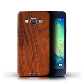 STUFF4 Phone Case/Cover for Samsung Galaxy A3/A300/Mahogany Design/Wood Grain Effect/Pattern Mobile phones