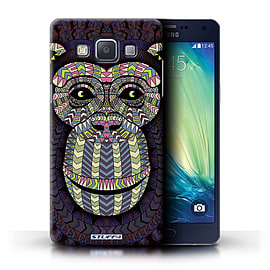 STUFF4 Phone Case/Cover for Samsung Galaxy A5/A500/Monkey-Colour Design/Aztec Animal Design Mobile phones