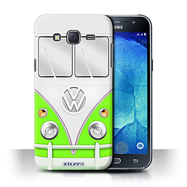 STUFF4 Phone Case/Cover for Samsung Galaxy J5/J500/Green Design/VW Camper Van Collection Mobile phones