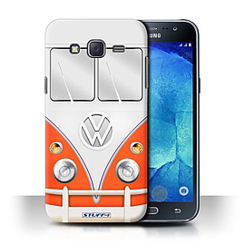 STUFF4 Phone Case/Cover for Samsung Galaxy J5/J500/Red Design/VW Camper Van Collection Mobile phones