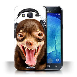 STUFF4 Phone Case/Cover for Samsung Galaxy J5/J500/Ridiculous Dog Design/Funny Animals Collection Mobile phones