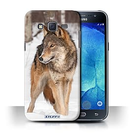 STUFF4 Phone Case/Cover for Samsung Galaxy J5/J500/Wolf Design/Wildlife Animals Collection Mobile phones