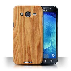 STUFF4 Phone Case/Cover for Samsung Galaxy J5/J500/Oak Design/Wood Grain Effect/Pattern Collection Mobile phones