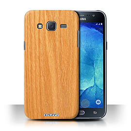 STUFF4 Phone Case/Cover for Samsung Galaxy J5/J500/Pine Design/Wood Grain Effect/Pattern Collection Mobile phones