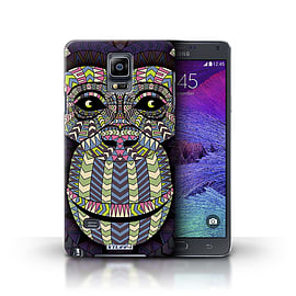 STUFF4 Phone Case/Cover for Samsung Galaxy Note 4/Monkey-Colour Design/Aztec Animal Design Mobile phones