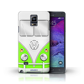 STUFF4 Phone Case/Cover for Samsung Galaxy Note 4/Green Design/VW Camper Van Collection Mobile phones