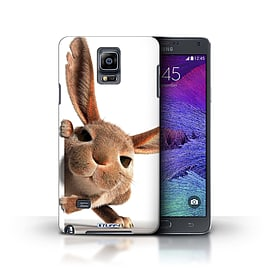 STUFF4 Phone Case/Cover for Samsung Galaxy Note 4/Peeking Bunny Design/Funny Animals Collection Mobile phones