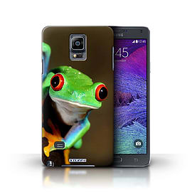 STUFF4 Phone Case/Cover for Samsung Galaxy Note 4/Frog Design/Wildlife Animals Collection Mobile phones