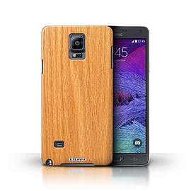 STUFF4 Phone Case/Cover for Samsung Galaxy Note 4/Pine Design/Wood Grain Effect/Pattern Collection Mobile phones