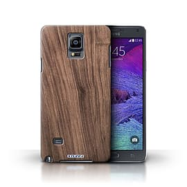 STUFF4 Phone Case/Cover for Samsung Galaxy Note 4/Walnut Design/Wood Grain Effect/Pattern Collection Mobile phones