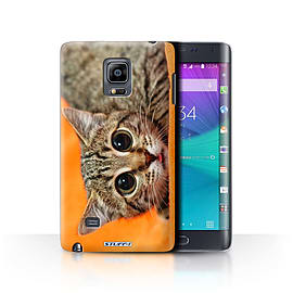 STUFF4 Phone Case/Cover for Samsung Galaxy Note Edge/N915/Big Eye Cat Design/Funny Animals Mobile phones