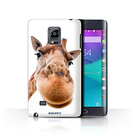 STUFF4 Phone Case/Cover for Samsung Galaxy Note Edge/N915/Closeup Giraffe Design/Funny Animals Mobile phones