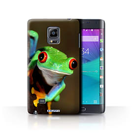 STUFF4 Phone Case/Cover for Samsung Galaxy Note Edge/N915/Frog Design/Wildlife Animals Collection Mobile phones