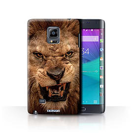 STUFF4 Phone Case/Cover for Samsung Galaxy Note Edge/N915/Lion Design/Wildlife Animals Collection Mobile phones