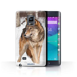 STUFF4 Phone Case/Cover for Samsung Galaxy Note Edge/N915/Wolf Design/Wildlife Animals Collection Mobile phones