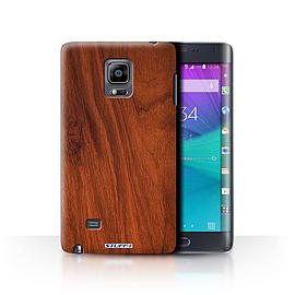 STUFF4 Phone Case/Cover for Samsung Galaxy Note Edge/N915/Mahogany Design/Wood Grain Effect/Pattern Mobile phones
