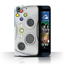 STUFF4 Phone Case/Cover for HTC Desire 626G+/White Xbox 360 Design/Games Console Collection Mobile phones