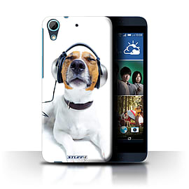 STUFF4 Phone Case/Cover for HTC Desire 626G+/Chillin Headphone Dog Design/Funny Animals Collection Mobile phones