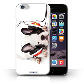 STUFF4 Phone Case/Cover for Apple iPhone 6S+/Plus/Snooze Headphone Dog Design/Funny Animals Mobile phones