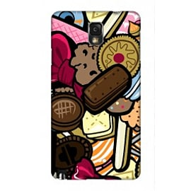Samsung Galaxy Note 3 Case Bowtie,braces And Biscuit Pattern By Artista Mobile phones