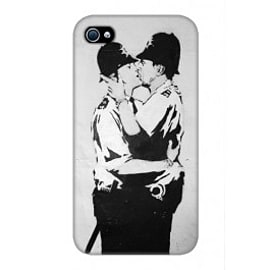 iPhone 4/4S Case Coppers By Banksy Mobile phones