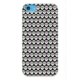 iPhone 5C Case Electric Skulls A3 By Greg Straight Mobile phones