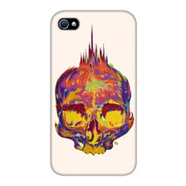 iPhone 4/4S Case Rainbow Skull By James Fosdike Mobile phones