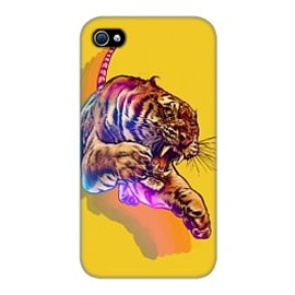 iPhone 4/4S Case Rainbow Tiger By James Fosdike Mobile phones