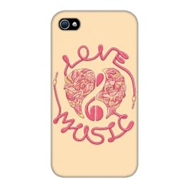 iPhone 4/4S Case Love Music_red By Sweaty Eskimo Mobile phones