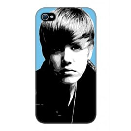 iPhone 4/4S Case Justin Bieber Blue By VA Iconic Music Mobile phones