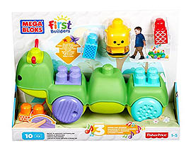 Mega Bloks First Builders Move-n-Groove Caterpillar Toy Blocks and Bricks