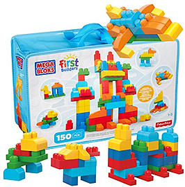 Mega Bloks First Builders Deluxe Building Bag Blocks and Bricks