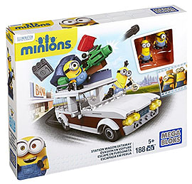 Mega Bloks Minions Movie Station Wagon Getaway Blocks and Bricks