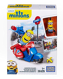 Mega Bloks Minions Small Playset - Scooter Escape Blocks and Bricks