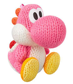 Nintendo Amiibo Light Pink Yarn Yoshi (Yoshis Woolly World Series) Soft Toys