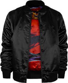 Street Fighter: Shadaloo Varsity Jacket - Size: M Clothing