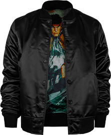 Street Fighter: Ryu Varsity Jacket - Size: M Clothing